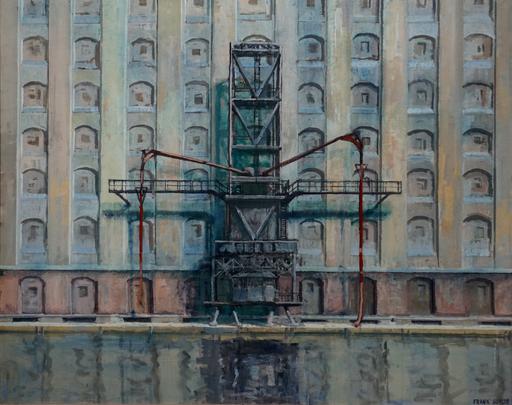 Frank SUPLIE - Pittura - Berlin, Osthafen, Getreidespeicher