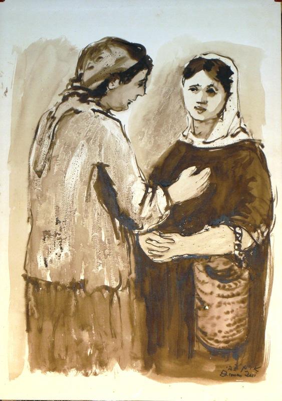 Zvi EHRMAN - Painting - Conversation