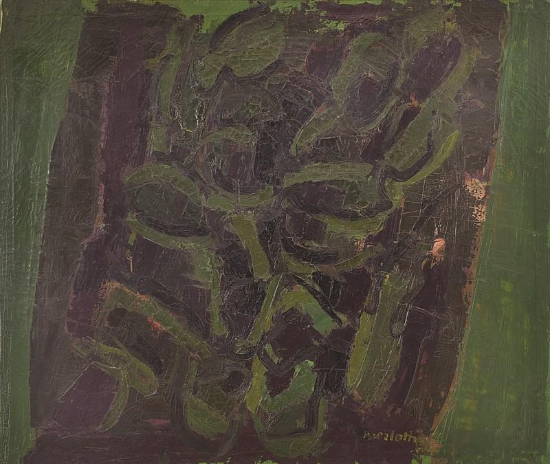 Ennio MORLOTTI - Painting - Cactus (Vegetazione)