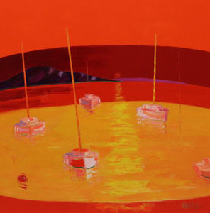 Jean-Pierre MALTESE - Pittura - En tonalité jaune et rouge