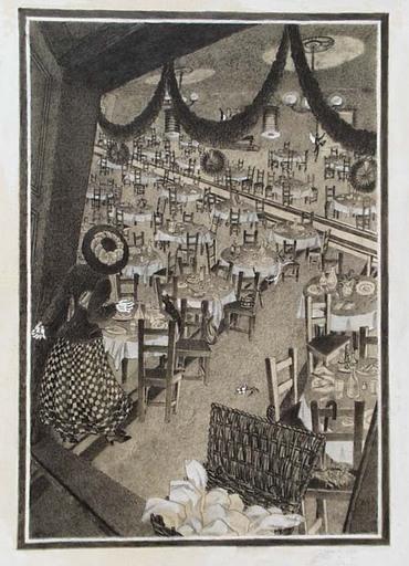 """Fritzi Lazar LÖW - Dibujo Acuarela - """"Empty Guesthouse"""" by Fritzi Loew"""