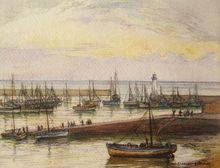Gabriel ROUSSEAU - Drawing-Watercolor - Port en Bretagne
