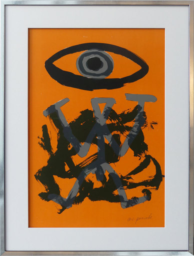 A.R. PENCK - Print-Multiple - Standart Variation Schwarz-Orange