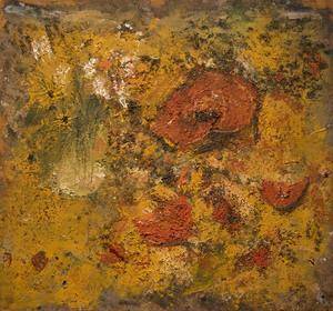 """Miquel BARCELO - Pintura - """"Potiron avec Bouquet de Fleurs nº 1"""""""