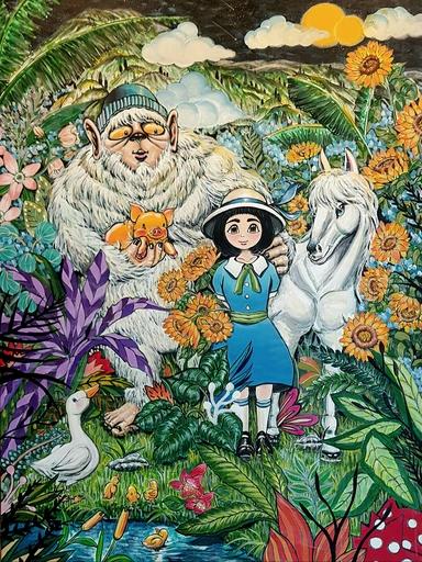 Seung-Hun SHIN - Gemälde - Fantasy Jejuisland No.3
