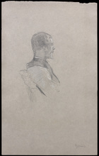 Henri DE TOULOUSE-LAUTREC - Drawing-Watercolor - Portrait d'Albert Grenier