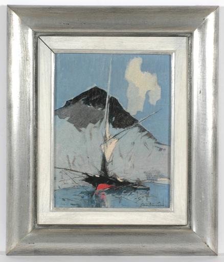"""André PETROFF - Painting - """"Cote d'Azur. Coastal Motif"""" oil on panel"""