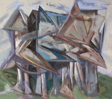 Rafael UBEDA PIÑEIRO - Painting - aldea
