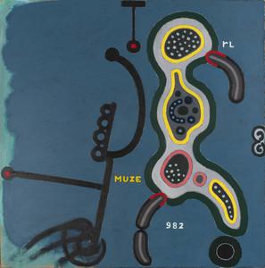 Reinier LUCASSEN - Pintura - De Muze gevoed door Onschuld & Wellust