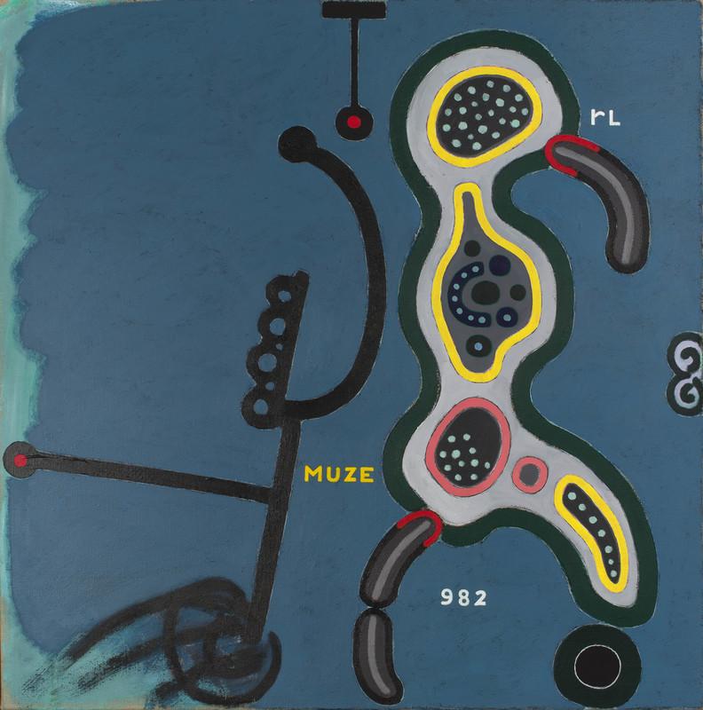 Reinier LUCASSEN - Painting - De Muze gevoed door Onschuld & Wellust
