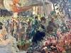 Luigi MORETTI - Peinture - Le marché aux fleurs