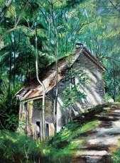 R.CAVALIÉ - Pintura - Hameau de Rojus. La maison condamnée.