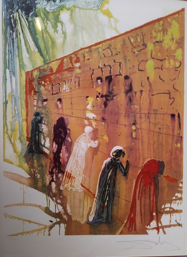 Salvador DALI - Estampe-Multiple - The Wailing Wall