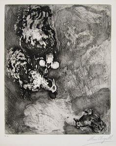 "Marc CHAGALL, ""Les deux coqs"" (C. bk. 22)"