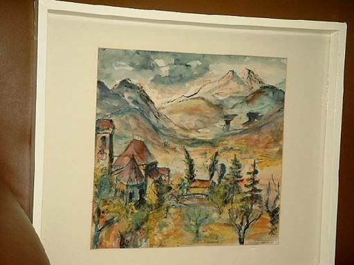 Ehrich TURLACH - Disegno Acquarello - Laugenspitzen in Südtirol.