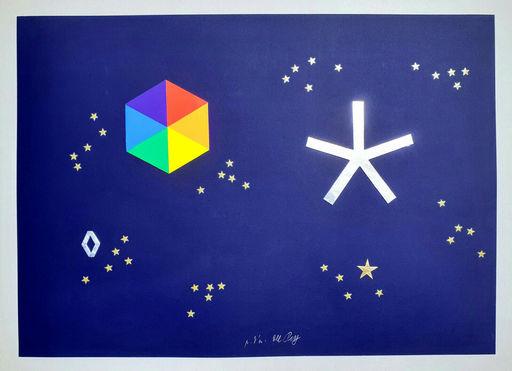 Lucio DEL PEZZO - Stampa-Multiplo - L'universo di stelle