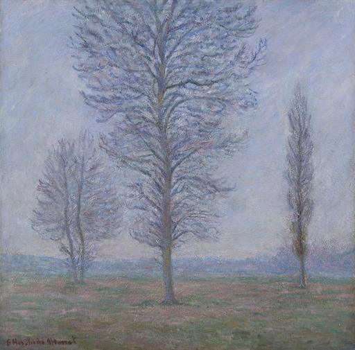 Blanche HOSCHÉDÉ-MONET - Pintura - Les trois peupliers, Giverny