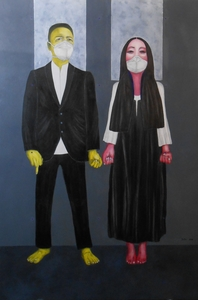 Christian SATIN - Painting - Just married    (Cat N° 5963)