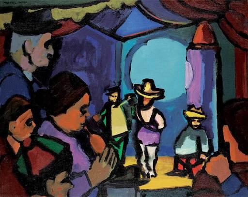Maxwell Bennett BATES - Peinture - Side Show