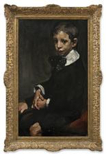 Arthur NAVEZ - Painting - Jeune Garçon au Noeud à Pois
