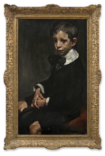 Arthur NAVEZ - Pittura - Jeune Garçon au Noeud à Pois