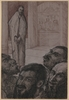 "Gustav Georg GLESINGER - Zeichnung Aquarell - ""Jesus and the Judges"" by Gustav Georg Glesinger, 1920"