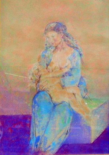Jaime QUESADA - 水彩作品 - maternidad