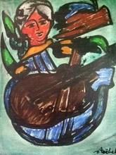 Edgar STOEBEL - Pintura - Composition with a Figure