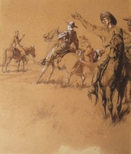 "Max VON POOSCH - Drawing-Watercolor - Illustration for ""Travel and Adventure in Many Lands"""