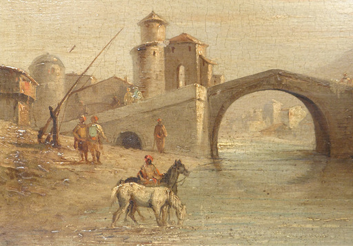 Ferdinand BONHEUR - Pintura - Paysage orientaliste