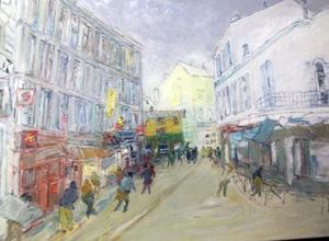 Jean FUSARO - Painting - RUE PIETONNE À CANNES