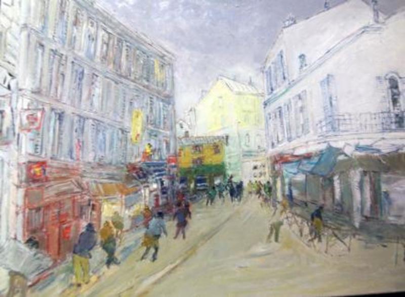 Jean FUSARO - Pintura - RUE PIETONNE À CANNES