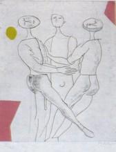 Marino MARINI - Grabado - Tout Pres De Marini Plate II A 136
