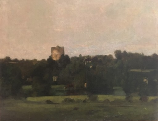 """Charles François DAUBIGNY - Pintura - """"Vaches près d'une rivière"""""""