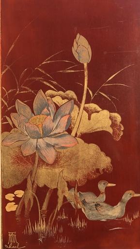 Truong VAN THANH - Peinture - Canards et fleurs