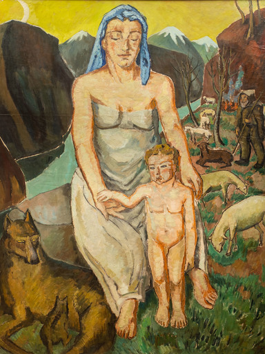 Marie Mela MUTER - Pintura - Woman with Child