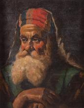 Miklos MIHALOVITS - Painting - Untitled (Portrait of Old Man)