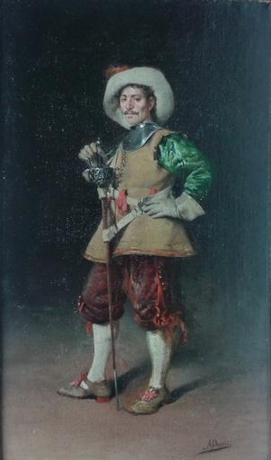 Arturo ORSELLI - Pintura - Gentilhomme à l'épée