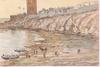 "Rudolf SCHIMA - Drawing-Watercolor - ""Evening at Nile"", 1906, Watercolor"