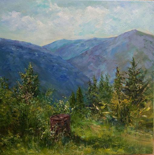 Alexandra LASKINA - Gemälde - Mountain peak