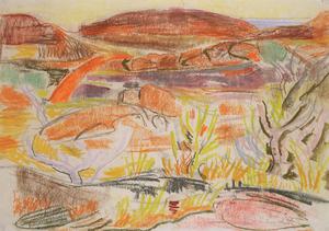 Willy EISENSCHITZ - Drawing-Watercolor - Landschaft in Afrika