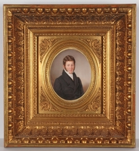"Emanuel Thomas PETER - Miniatur - ""Portrait of a Gentleman"", Large Miniature, 1856"