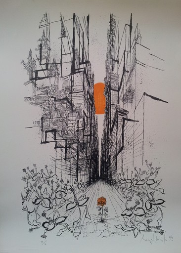 Ronald SEARLE - Grabado - The thing from underground I