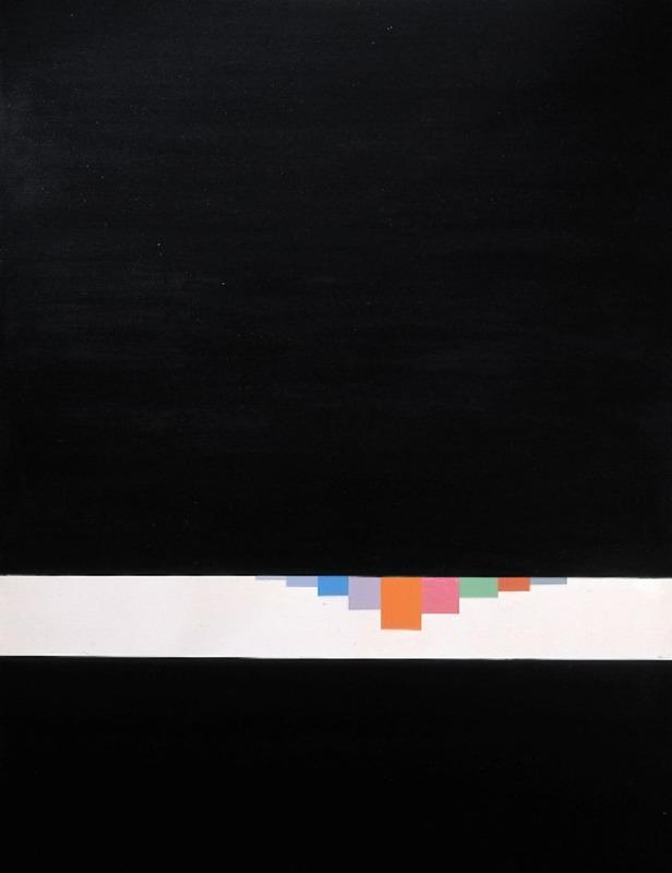 Eugenio CARMI - Pintura - Sipario Nero 1
