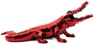 Richard ORLINSKI - Sculpture-Volume -   CROCODILE RESIN FLAME RED