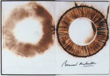 Bernard AUBERTIN - Peinture - Dessin de feu sur livre