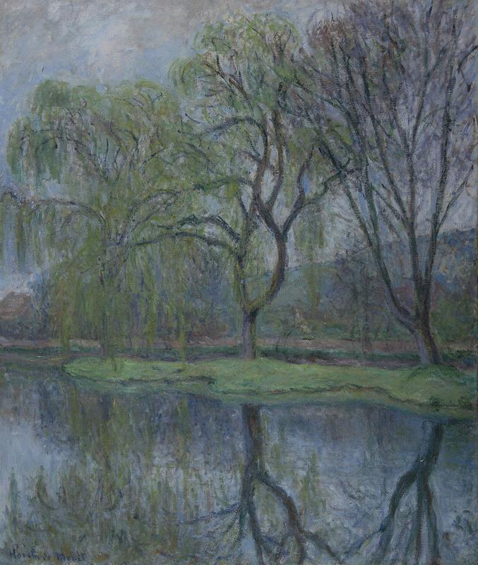 Blanche HOSCHÉDÉ-MONET - Painting - Les grands arbres à l'étang (Giverny)