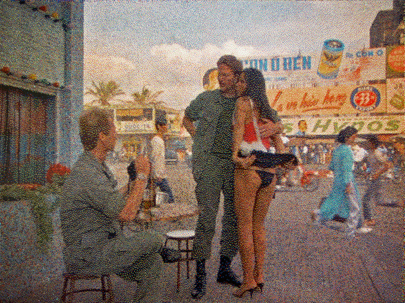 "Davide LA ROCCA - Painting - ""The Prostitute"" from: Full Metal Jacket by Stanley Kubrick"