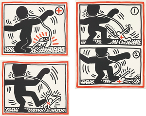Keith HARING - Druckgrafik-Multiple - Untitled (Free South Africa)