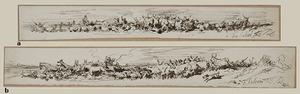 Filippo PALIZZI - Zeichnung Aquarell - HERDS AND SHEPHERD
